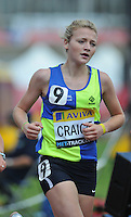 Photo: Tony Oudot/Richard Lane Photography..Aviva London Grand Prix. 25/07/2009. .women's 3000m Under 20. .Rebecca Craigie.