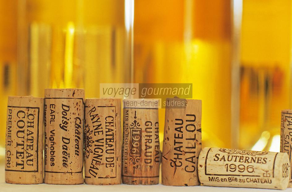 Europe/France/Aquitaine/33/Gironde/Sauternais/Barsca: La maison du Sauternes - Dégustation des vins de 1996 et bouchons