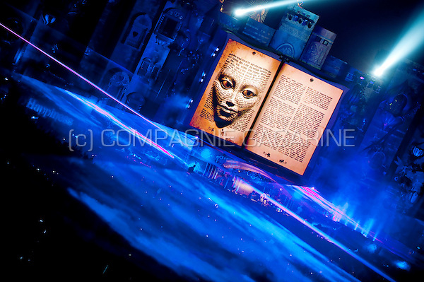 Ambiance impressions of the first day of the Tomorrowland 2012 techno festival in De Schorre, Boom (Belgium, 27/07/2012)