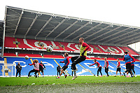 Chris Gunter of Wales in action during the Wales Training Session at the Cardiff City Stadium in Cardiff, Wales, UK. Thursday 15 November 2018