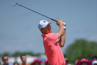 Jordan Spieth (USA) watches his tee shot on 8 during round 4 of the AT&T Byron Nelson, Trinity Forest Golf Club, Dallas, Texas, USA. 5/12/2019.<br /> Picture: Golffile   Ken Murray<br /> <br /> <br /> All photo usage must carry mandatory copyright credit (© Golffile   Ken Murray)
