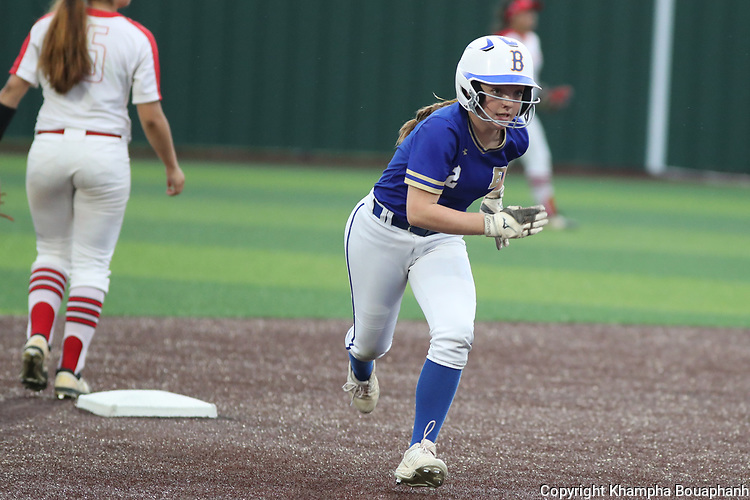 Boswell beats Burleson 7-0 in 5A Area high school softball at Cleburne High School on Tuesday, April 30, 2019. (Photo by Khampha Bouaphanh)