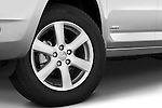 Tire and wheel close up detail view of a 2008 Toyota Rav4 Limited SUV Stock Photo