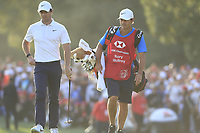 Rory McIlroy (NIR) walking onto the 18th green on the first playoff hole during the final round of the WGC HSBC Champions, Sheshan Golf Club, Shanghai, China. 03/11/2019.<br /> Picture Fran Caffrey / Golffile.ie<br /> <br /> All photo usage must carry mandatory copyright credit (© Golffile | Fran Caffrey)
