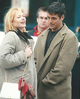 Clooney Helgenberger6017.JPG<br /> <br /> 1996 <br /> Marg Helgenberger and George Clooney<br /> Photo to By John Barrett-PHOTOlink.net/MediaPunch