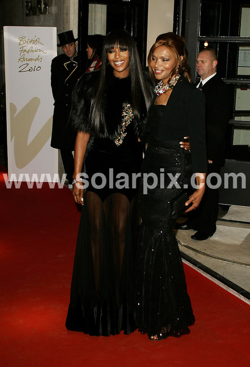 **ALL ROUND PICTURES FROM SOLARPIX.COM**                                             **WORLDWIDE SYNDICATION RIGHTS**                                                                                  Caption: the British Fashion Awards at The Savoy in London, UK. 7 December 2010                                                                            This pic: Naomi Campbell and Valerie Campbell                                                                                         JOB REF: 12580 LNJ       DATE: 07_12_2010                                                           **MUST CREDIT SOLARPIX.COM OR DOUBLE FEE WILL BE CHARGED**                                                                      **MUST AGREE FEE BEFORE ONLINE USAGE**                               **CALL US ON: +34 952 811 768 or LOW RATE FROM UK 0844 617 7637**