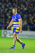 2nd February 2019, Halliwell Jones Stadium, Warrington, England; Betfred Super League rugby, Warrington Wolves versus Leeds Rhinos; Jack Hughes walks off after receiving a yellow card in the first half