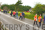 CHAIRTY WALK: Residents of Castlegregory walking from Camp to Tralee in aid of the Jack and Jill Foundation on Saturday.