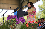 Incoming Associate Students President Alejandra Leon speaks during the 2013 Western Nevada College Commencement at the Pony Express Pavilion, in Carson City, Nev., on Monday, May 20, 2013. .Photo by Cathleen Allison