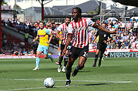 Romaine Sawyers of Brentford in action during Brentford vs Rotherham United, Sky Bet EFL Championship Football at Griffin Park on 4th August 2018