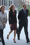 Queen Letizia of Spain attends the Royal Board on Disability Council meeting in Madrid, Spain. February 25, 2015. (Pool/ALTERPHOTOS/Victor Blanco)