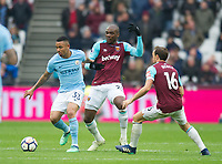 Manchester City Gabriel Jesus during the EPL - Premier League match between West Ham United and Manchester City at the Olympic Park, London, England on 29 April 2018. Photo by Andrew Aleksiejczuk / PRiME Media Images.