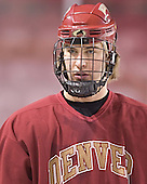 Tom May - Reigning national champions (2004 and 2005) University of Denver Pioneers practice on Friday morning, December 30, 2005 before hosting the Denver Cup at Magness Arena in Denver, CO.
