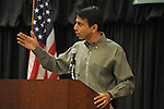 Governor Bobby Jindal of Louisiana speaks at an Iowa flood victims breakfast fundraiser  at the Marriott Ballroom in Cedar Rapids, Iowa on November 22, 2008.