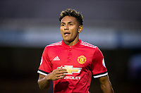 Demetri 'Demi' Mitchell of Manchester United during the U23 Premier League 2 match between Chelsea and Manchester United at the EBB Stadium, Aldershot, England on 18 September 2017. Photo by Andy Rowland.