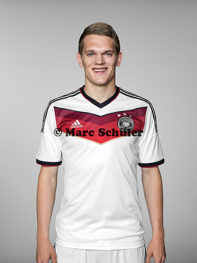 ST. MARTIN IN PASSEIER, ITALY - MAY 24: In this handout image provided by German Football Association (DFB) Matthias Ginter of team Germany poses for a picture on May 24, 2014 in St. Martin in Passeier, Italy.  (Photo by Handout/DFB via Bongarts/Getty Images)  *** Local Caption *** Matthias Ginter
