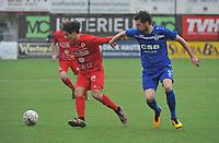 FC GULLEGEM - FC RUPEL BOOM :<br /> Nagim Amini (L) probeert voorbij Jens De Paepe (R) te geraken<br /> <br /> Foto VDB / Bart Vandenbroucke