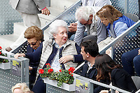 Infanta of Spain Pilar de Borbon during Madrid Open Tennis 2016 Semifinal match.May, 7, 2016.(ALTERPHOTOS/Acero) /NortePhoto.com