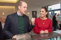 04/02/2020 - Prince William Duke of Cambridge and Kate  Middleton, Duchess of Cambridge during a visit to Joe's Ice Cream Parlour in the Mumbles Swansea  where they met a group of local parents and carers to hear about life in the Mumbles and talk about The Duchess's landmark survey on the early years 5 Big Questions on the Under Fives. The survey was launched on the 21st January and aims to spark a UK-wide conversation on raising the next generation. Photo Credit: ALPR/AdMedia