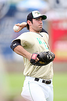 June 24, 2009: Kris Sanchez of the Clinton Lumber Kings at the 2009 Midwest League All Star Game at Alliant Energy Field in Clinton, IA.  Photo by: Chris Proctor/Four Seam Images
