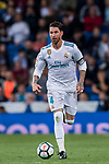 Sergio Ramos of Real Madrid in action during the La Liga 2017-18 match between Real Madrid and SD Eibar at Estadio Santiago Bernabeu on 22 October 2017 in Madrid, Spain. Photo by Diego Gonzalez / Power Sport Images