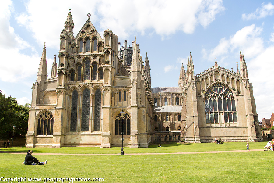 Eastern end of Ely cathedral church, Ely, Cambridgeshire, England, UK