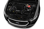 Car Stock 2018 Ford Taurus SHO 4 Door Sedan Engine  high angle detail view