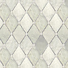 Quilt, a waterjet stone mosaic, shown in polished Carrara, Lettece Ming, and Bardiglio.
