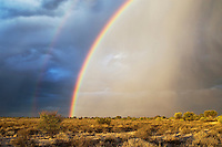 Double rainbow over Kalahari landscape