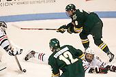 Colin Markison (UVM - 6), Matt Benning (NU - 5) - The visiting University of Vermont Catamounts defeated the Northeastern University Huskies 6-2 on Saturday, October 11, 2014, at Matthews Arena in Boston, Massachusetts.