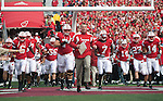 Wisconsin Badgers head coach Bret Bielema leads his team onto the field prior to an NCAA college football game against the Austin Peay Governors on September 25, 2010 at Camp Randall Stadium in Madison, Wisconsin. The Badgers beat the Governors 70-3. (Photo by David Stluka)
