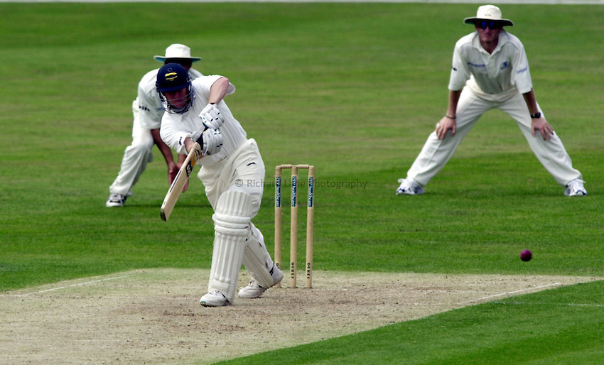 Photo:Ken Brown.19/07/00 Surrey v Leicestershire at Guildford.Ben Smith clips a ball to leg on his way bto a hundred