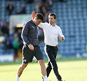 30th September 2017, Dens Park, Dundee, Scotland; Scottish Premier League football, Dundee versus Hearts; Dundee manager Neil McCann and assistant manager Graham Gartland at the end