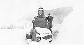 RGS engine crew posed on front of #25 after bucking snow.<br /> RGS  Lizard Head, CO