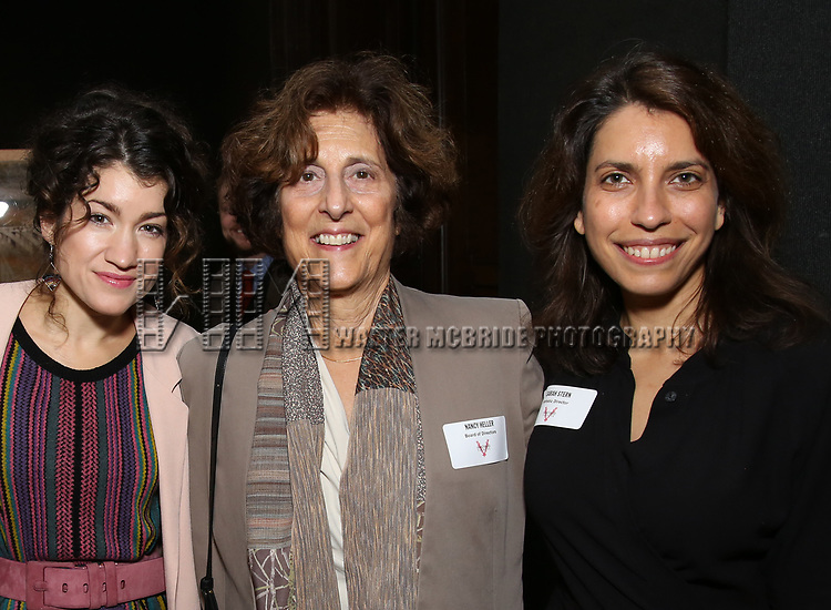 Sarah Stiles, Nancy Heller and Sarah Stern attends The Vineyard Theatre's Emerging Artists Luncheon at The National Arts Club on November 9, 2017 in New York City.