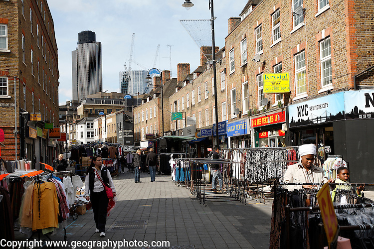 Petticoat Lane market, London E1