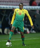 FUSSBALL   INTERNATIONAL   Testspiel    Albanien - Kamerun       14.11.2012 Patrick Mevoungou (Kamerun) mit Ball