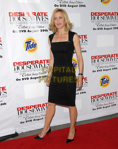 FELICITY HUFFMAN.The Desperate Housweives: Extra Juicy Season 2 DVD Launch held at Wisteria Lane in Universal City, California, USA..August 5th, 2006.Ref: DVS.full length black dress .www.capitalpictures.com.sales@capitalpictures.com.©Debbie VanStory/Capital Pictures