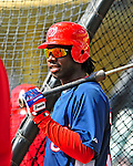 12 March 2009: Washington Nationals' outfielder Lastings Milledge prepares to take batting practice prior to a Spring Training game against the Atlanta Braves at Disney's Wide World of Sports in Orlando, Florida. The Braves defeated the Nationals 6-2 in the Grapefruit League matchup. Mandatory Photo Credit: Ed Wolfstein Photo