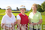 Enjoying a lovely morning for a round of golf at Ballyheigue Castle Golf Club Lady Captain's Day on Saturday were l/r June Hayes, Killflynn, Lady President Eilish Delaney-Dalton, Ballyroe and Pauline Costello, Wood Lee, Tralee................................................................................................................................................................................................................................................ ............