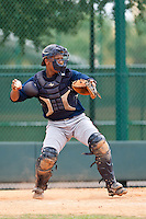 Ramon De Los Santos of the Gulf Coast League Braves during the game against the Gulf Coast League Tigers July 3 2010 at the Disney Wide World of Sports in Orlando, Florida.  Photo By Scott Jontes/Four Seam Images