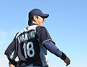 Hisashi Iwakuma (Mariners).FEBRUARY 13, 2012 - MLB : Seattle Mariners pitcher Hisashi Iwakuma of Japan trains during team's spring training baseball camp in Peoria, Arizona..(Photo by AFLO)