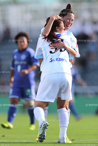 (L-R) <br /> Fumina Katsurama, <br /> Sonoko Chiba (Albion), <br /> SEPTEMBER 3, 2016 - Football / Soccer : <br /> Plenus Nadeshiko League Cup 2016 Division 2 Final match <br /> between AS Harima Albion 2-0 Nittaidai Fields Yokohama <br /> at Ajinomoto Field Nishigaoka in Tokyo, Japan. <br /> (Photo by AFLO SPORT)