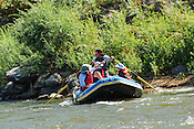 Bucking Rainbow Outfitters crashing Cable Rapid while floating the Upper Colorado River from Rancho Del Rio to Two Bridges on the morning of August 15, 2014.