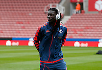 Swansea City's Bafetimbi Gomis during the Barclays Premier League match between Stoke City and Swansea City played at Britannia Stadium, Stoke on April 2nd 2016