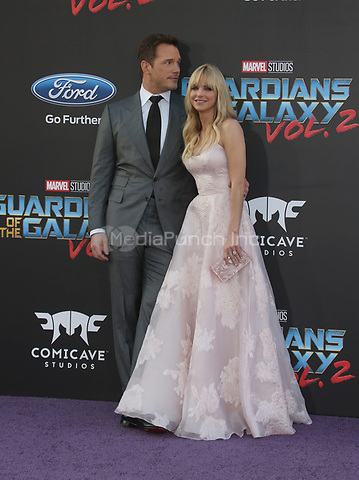 "HOLLYWOOD, CA - April 19: Chris Pratt, Anna Faris, At Premiere Of Disney And Marvel's ""Guardians Of The Galaxy Vol. 2"" At The Dolby Theatre  In California on April 19, 2017. Credit: FS/MediaPunch"