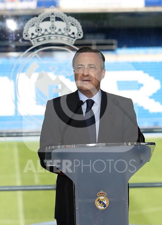 Real Madrid's President Florentino Perez.June 2 2009. (ALTERPHOTOS/Acero).