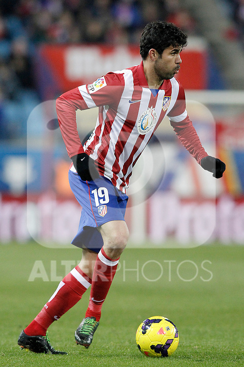 Atletico de Madrid's Diego Costa during La Liga match.December 15,2013. (ALTERPHOTOS/Acero)