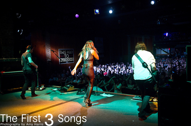 Josh Smith, Lzzy Hale, and Joe Hottinger of Halestorm perform at Bogarts in Cincinnati, Ohio.