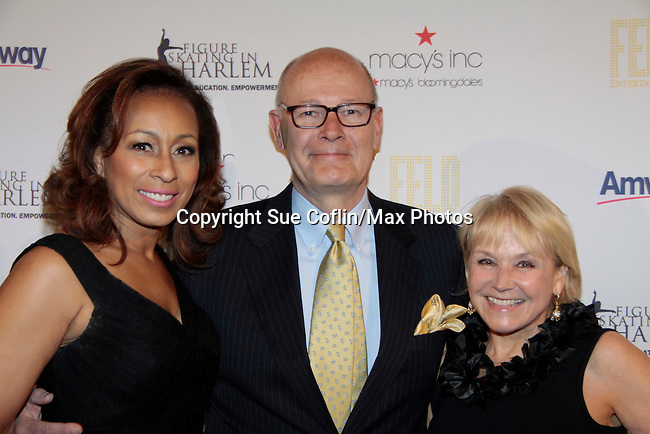 Tamara Tunie & Harry Smith & Andrea Joyce10th Annual Gala celebrating Figure Skating in Harlem's 18th year of operations at The Stars 2015 Benefit Gala on April 13, 2015 in New York City, New York honoring Olympic Champion Evan Lysacek, Gloria Steinem and Nicole, Alana and Juliette Feld with Mary Wilson as Mistress of Ceremony. (Photos by Sue Coflin/Max Photos)